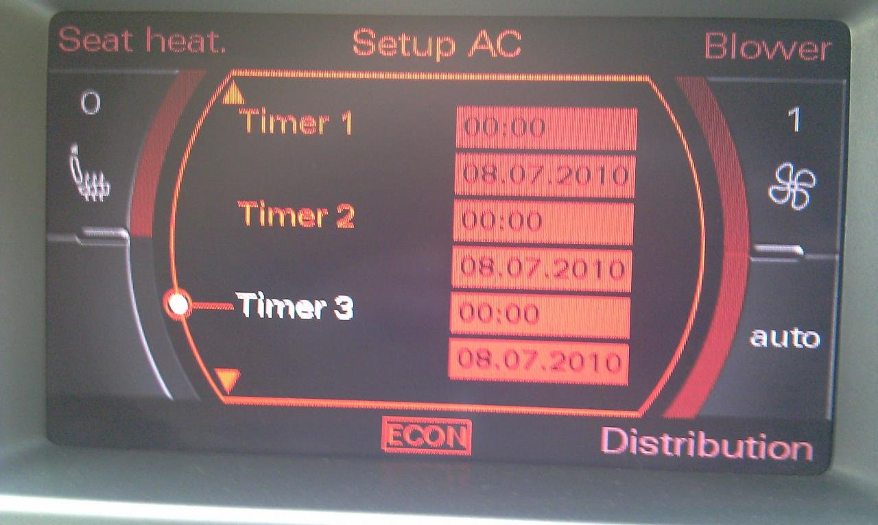 parking /auxiliary heater | Audi Forum